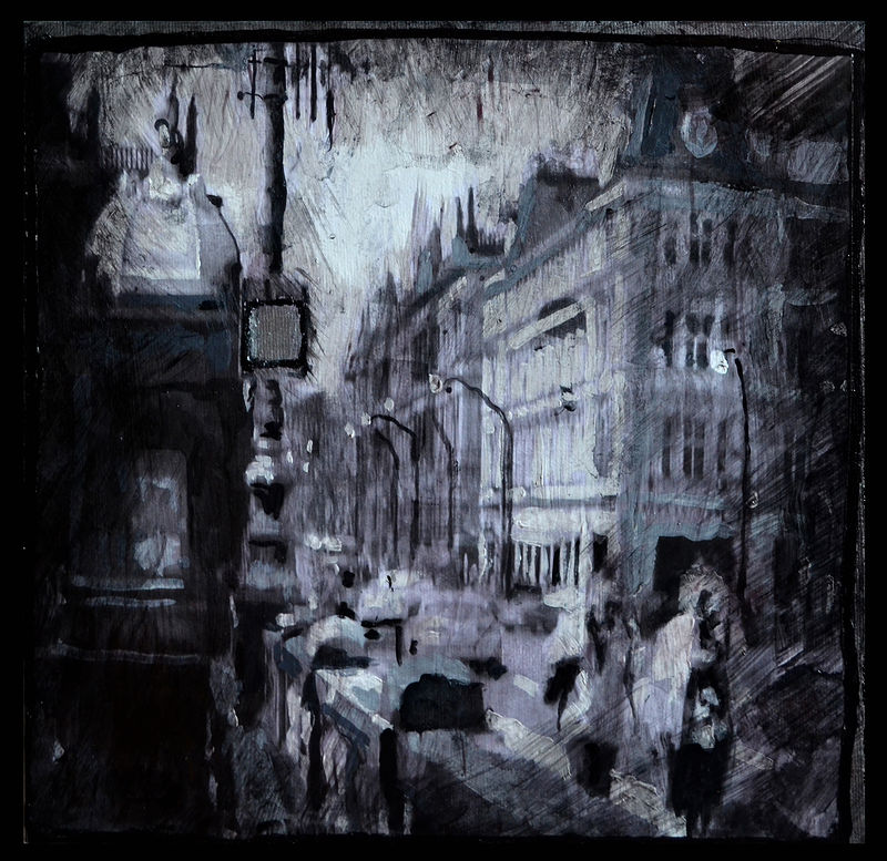 Oil painting Prague by Chloé Surprenant