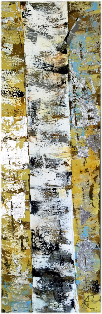 Acrylic painting Yellow Birch by Linda Richardi
