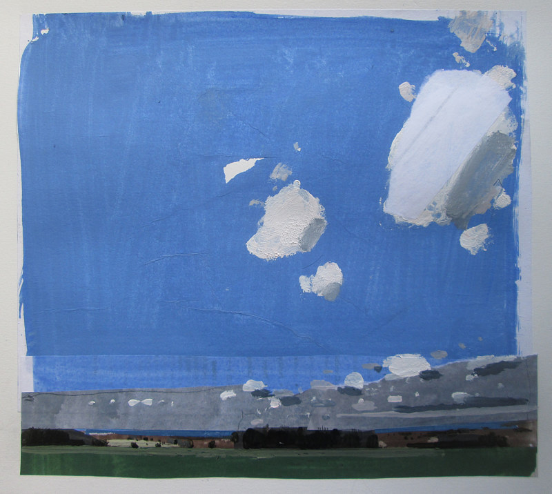 Acrylic painting May Blue by Harry Stooshinoff