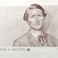 Painting John S. Mosby by Gary Huff