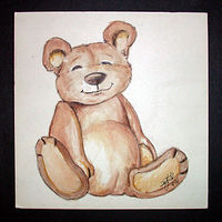 Painting Teddy by Danielle Scott