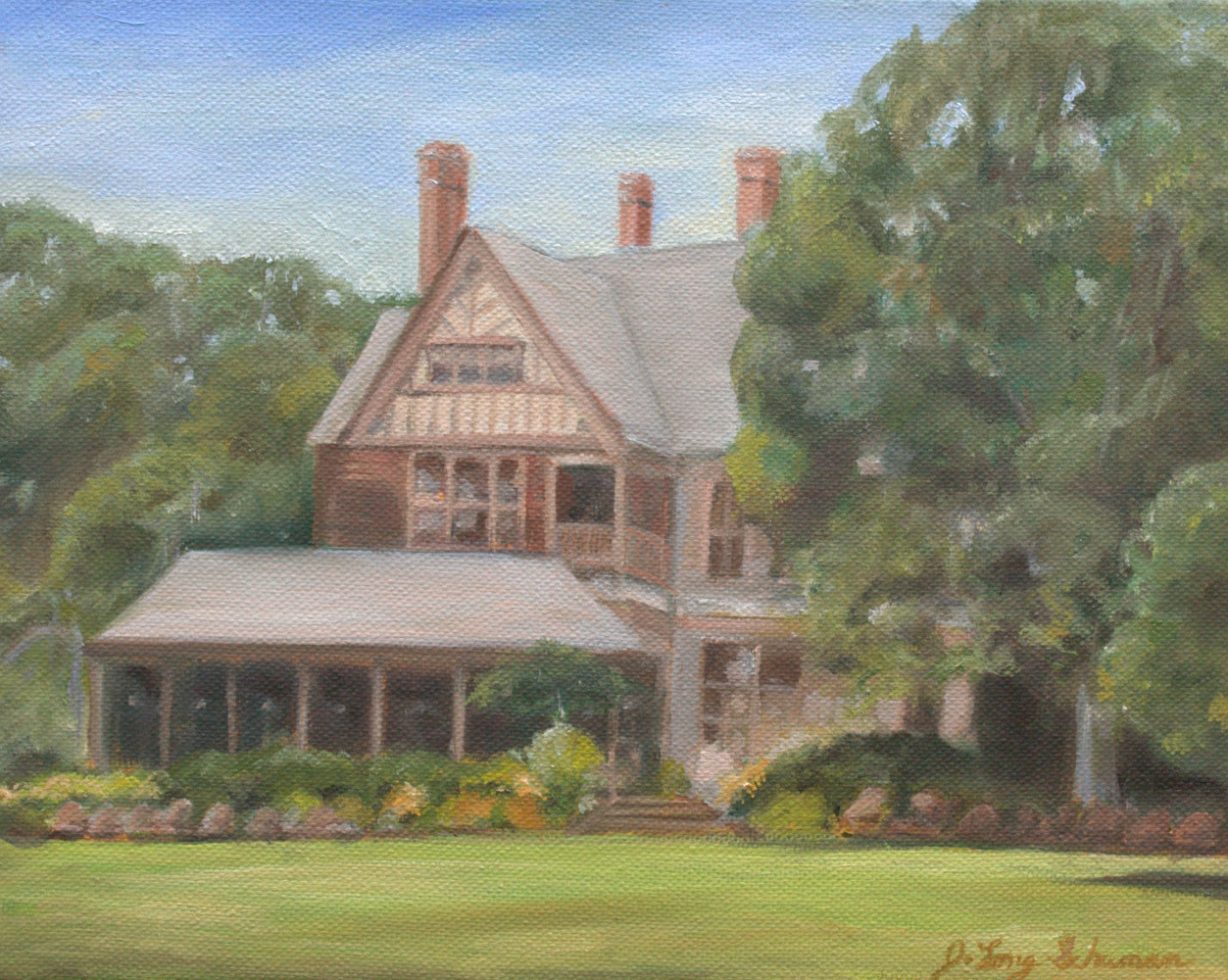 Oil painting Bayard Porch by June Long-schuman