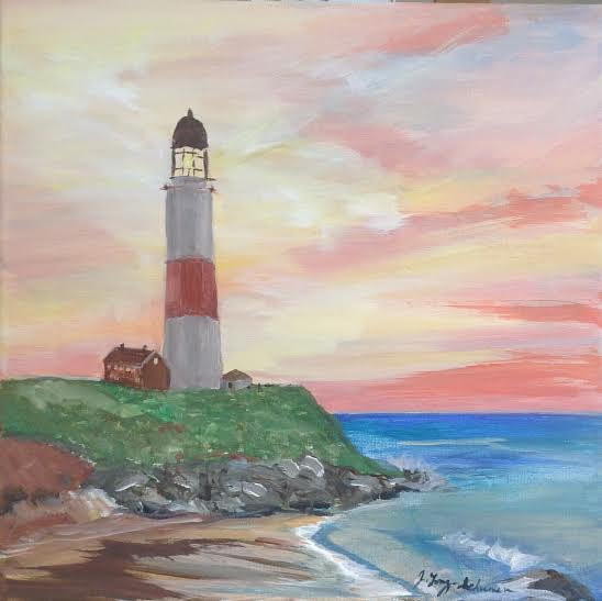Lighthouse sunrise  by June Long-schuman