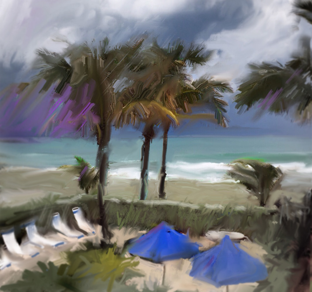 Watercolor Shucker's, Jensen Beach, Florida by Bernard Dick