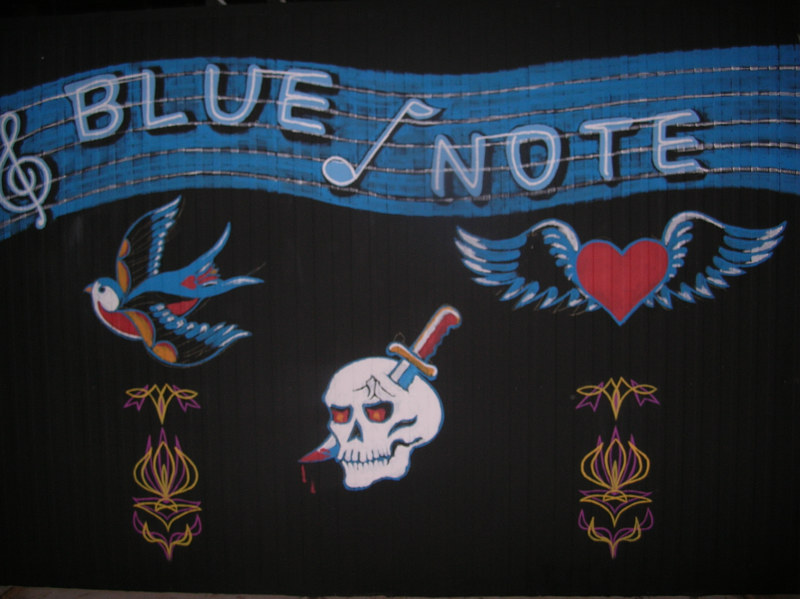 Painting Blue Note by Elizabeth Mercer