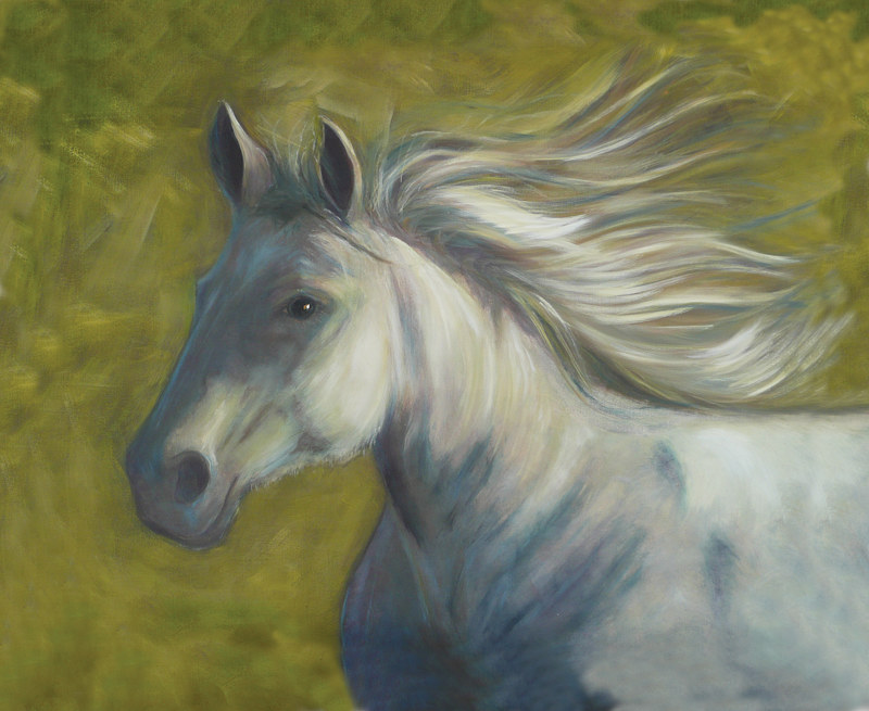 Acrylic painting Run Like the Wind by Sally Adams