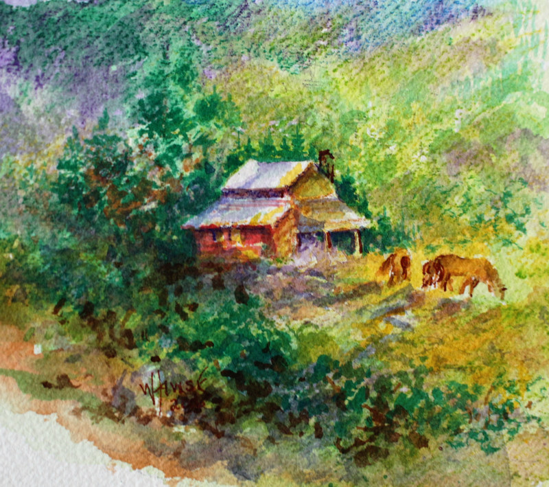Watercolor Spring in the Valley #1 by Wanda Hawse