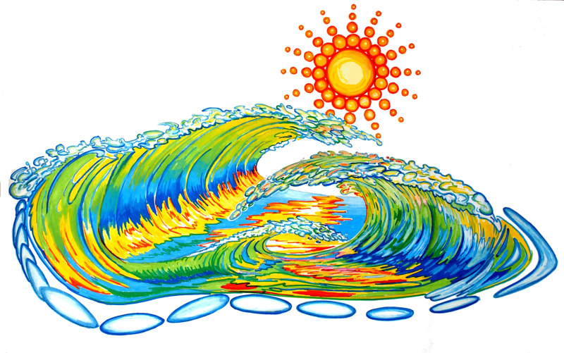 Painting Wave Design by Richard Ficker