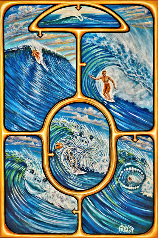"Oil painting ""Surf Story"" by Richard Ficker"