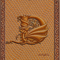 Draco Token D, Gold on Gold by Sue Ellen Brown