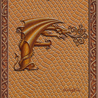 Draco Token F, Gold on Gold by Sue Ellen Brown