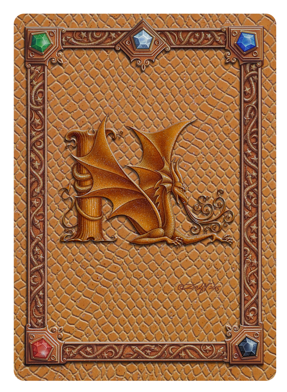 Draco Token N, Gold on Gold by Sue Ellen Brown