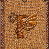 Draco Token P, Gold on Gold by Sue Ellen Brown