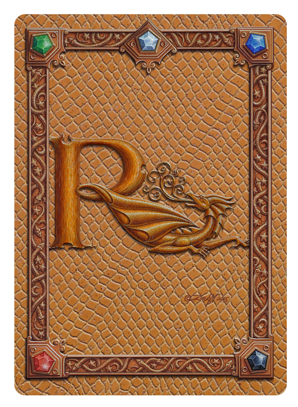 Draco Token R, Gold on Gold by Sue Ellen Brown