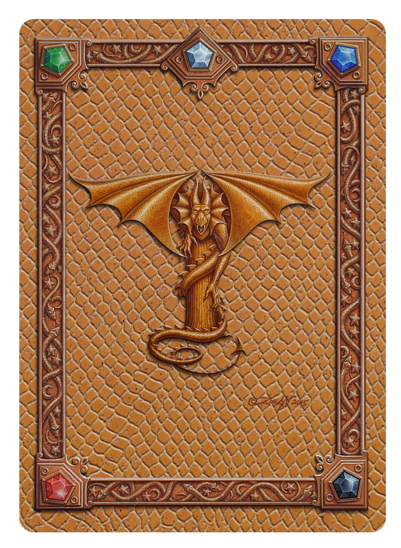 Draco Token T - 1.0, Gold on Gold by Sue Ellen Brown