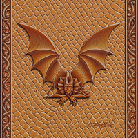 Draco Token V, Gold on Gold by Sue Ellen Brown