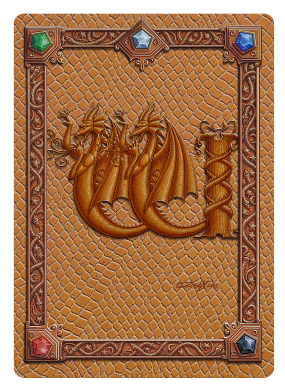 Draco Token W -1.0, Gold on Gold by Sue Ellen Brown