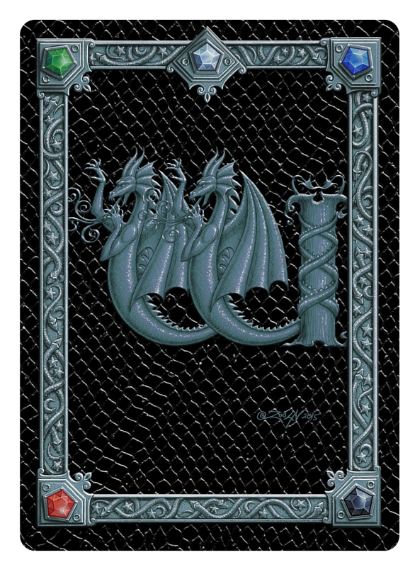 Draco Token W -1.0, Silver on Black by Sue Ellen Brown