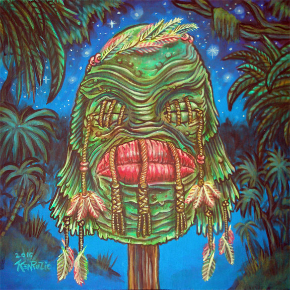 "Acrylic painting ""Souvenir of the Black Lagoon"" by Kenneth M Ruzic"