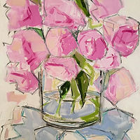 Oil painting Peonies II by Sarah Trundle