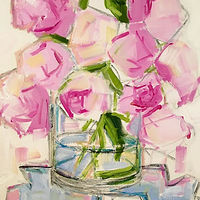 Oil painting Peonies III by Sarah Trundle