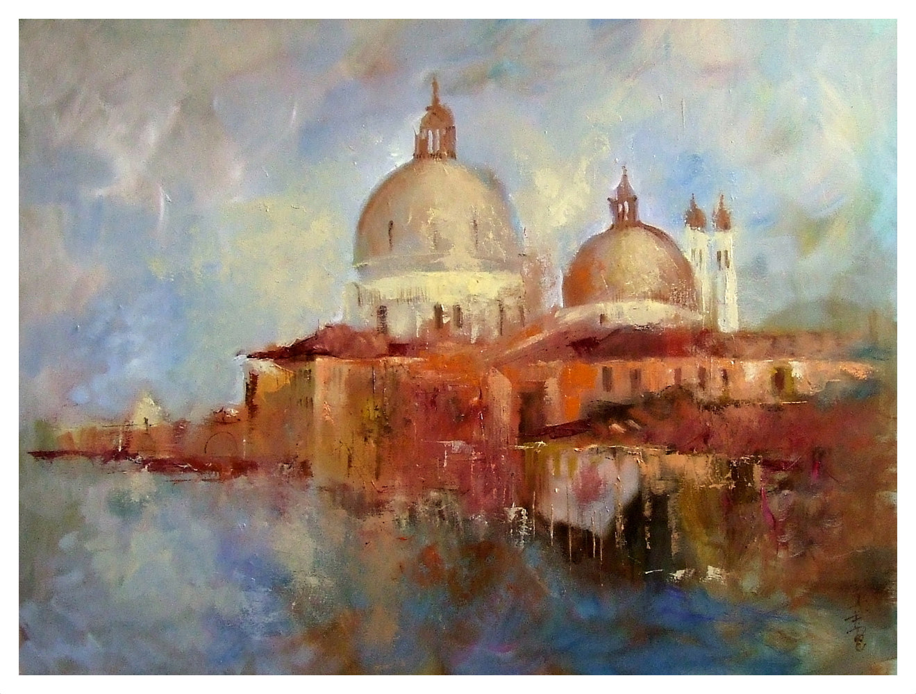 Oil painting Grand Canal. by Anne Farrall Doyle