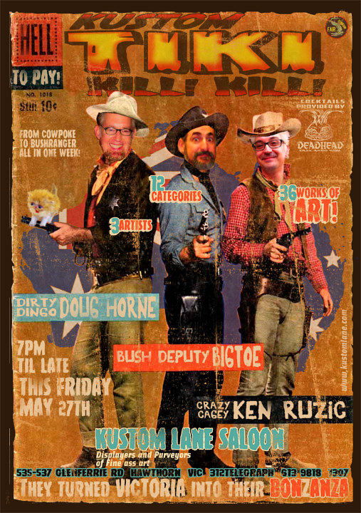 Rio Bravo promotional poster by Kenneth M Ruzic