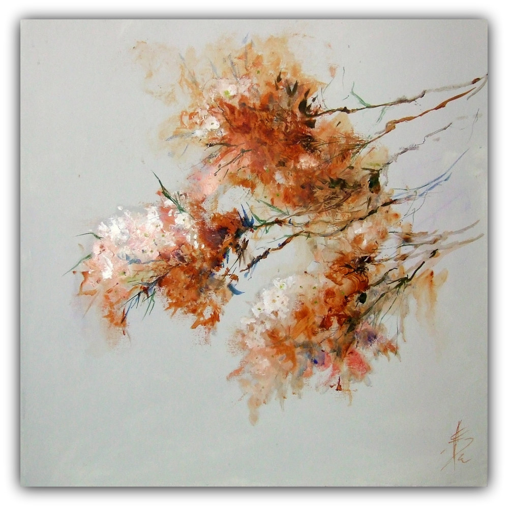 Oil painting Spring Blossom 2. by Anne Farrall Doyle