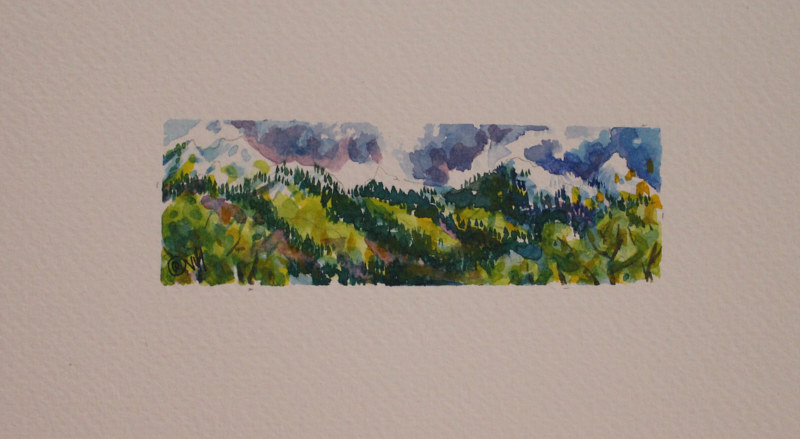 Watercolor Near Othella, BC by Wanda Hawse