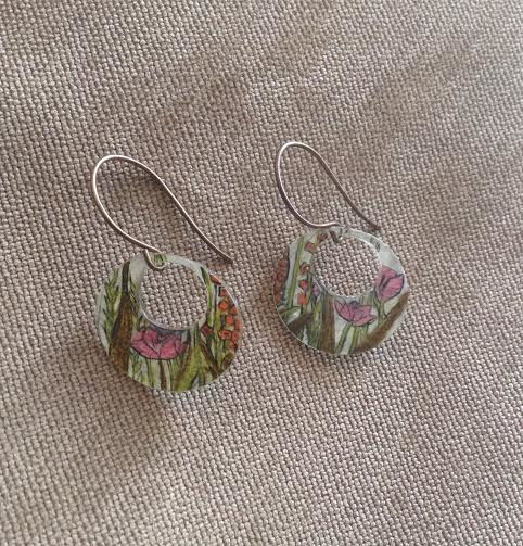Springtime earrings by June Long-schuman