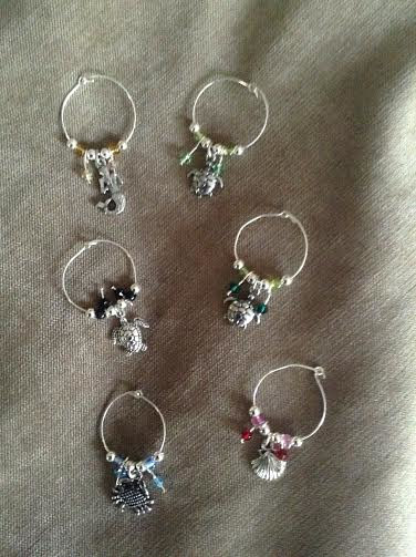 Sea life wine charms by June Long-schuman
