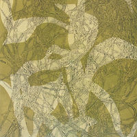 Monotype with Leaves by Michele Barnes