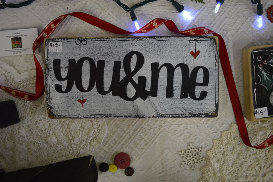 You and Me on Barnwood sign by Bev Robertson
