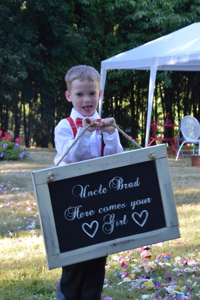 Here come the Bride Sign by Bev Robertson