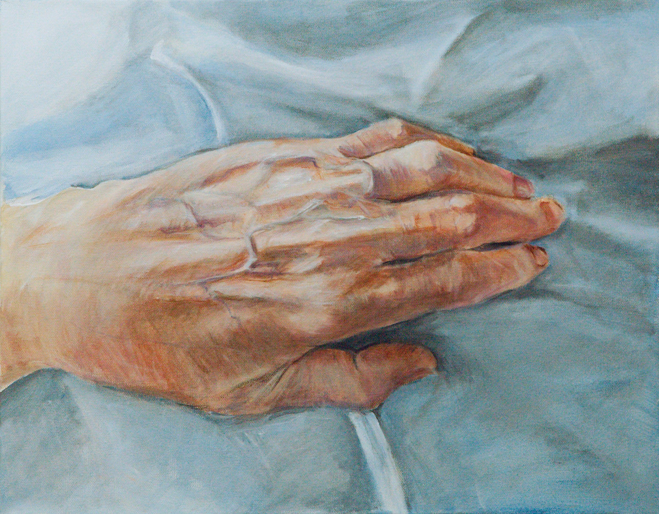 Acrylic painting handscape by Marc Brisson