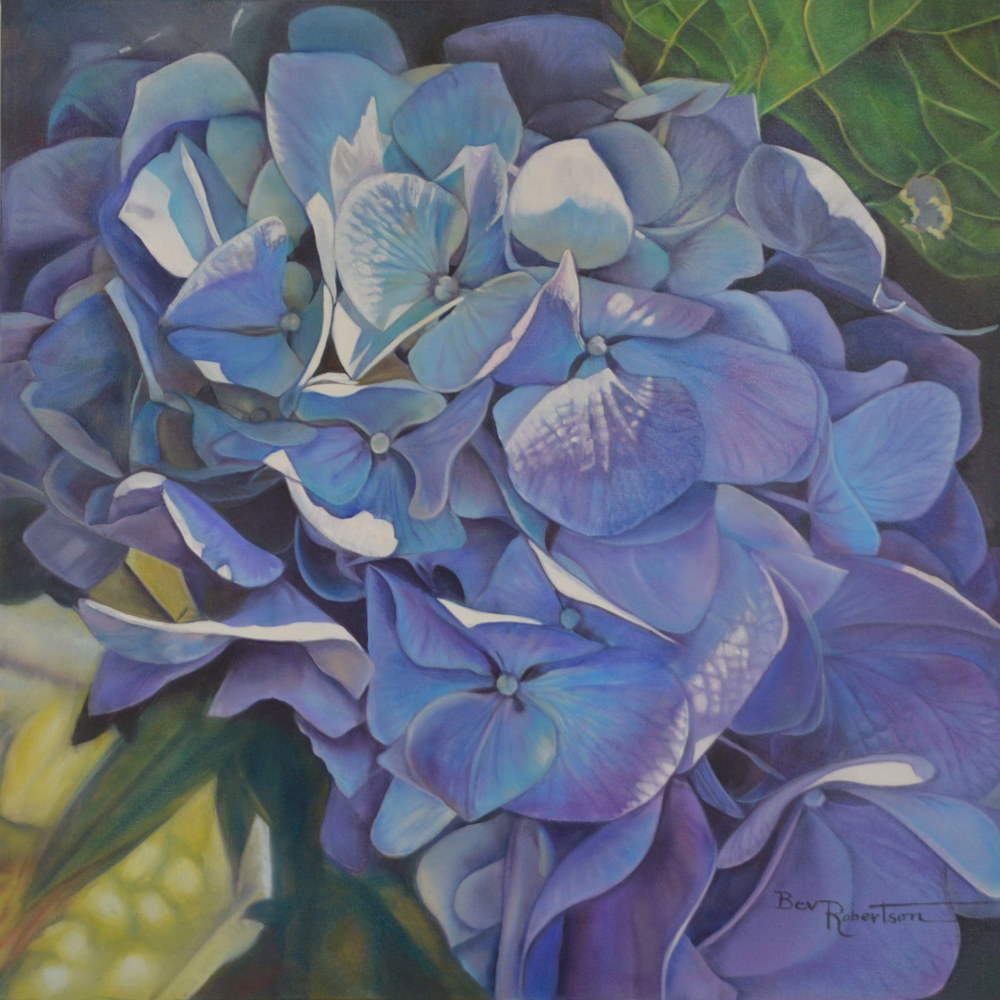 Oil painting Out of the Blue by Bev Robertson