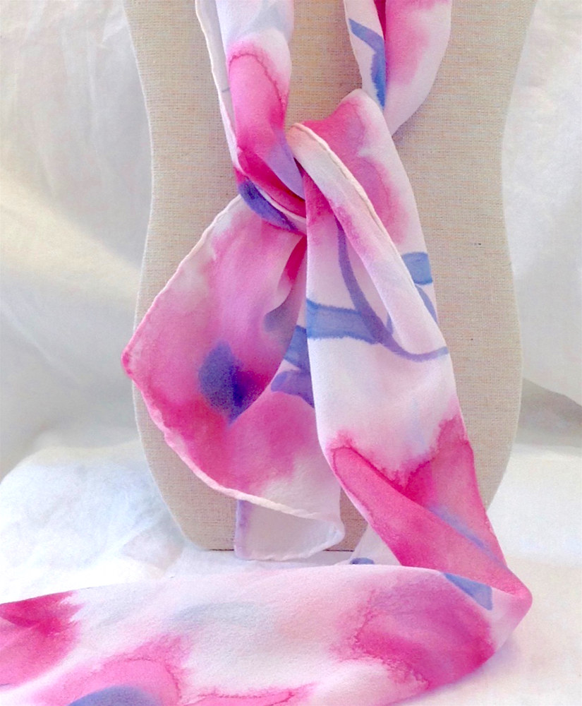 Painting Hand Painted Scarf by Vicki Allesia