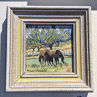 Acrylic painting Grazing by Melissa Kenyon Mcintyre