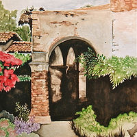Watercolor San Juan Capistrano by Melissa Kenyon Mcintyre