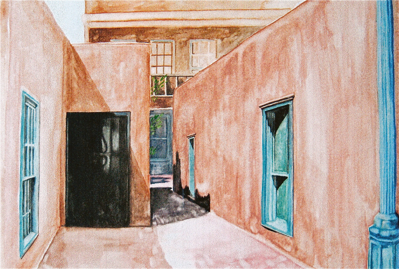 Watercolor Old Town Alley by Melissa Kenyon Mcintyre