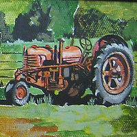 Orange Tractor by Melissa Kenyon Mcintyre