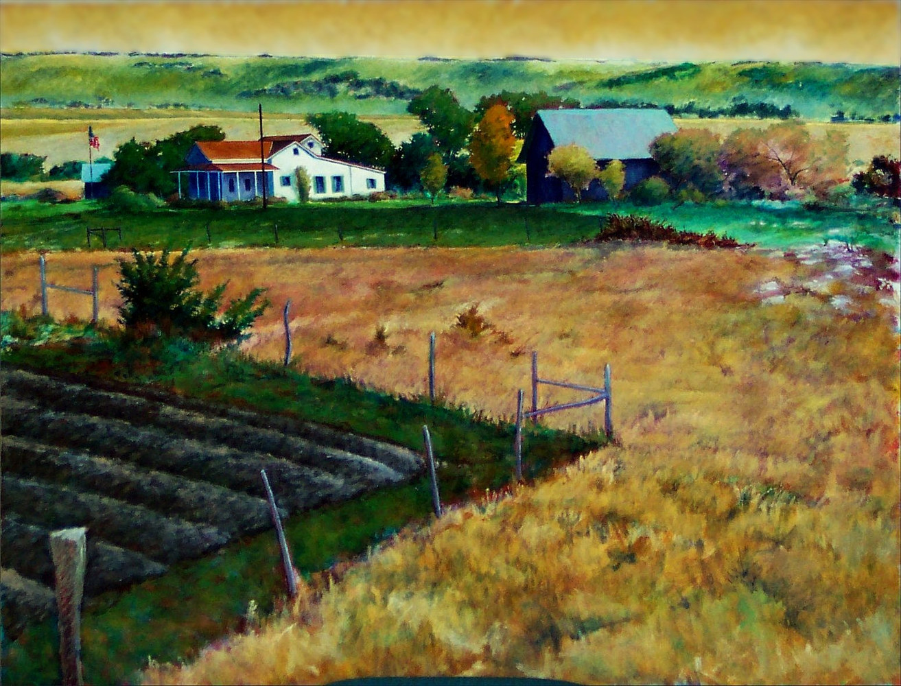 From Mt Zion Corn Hill Texas 36x48 by Gary Nowlin