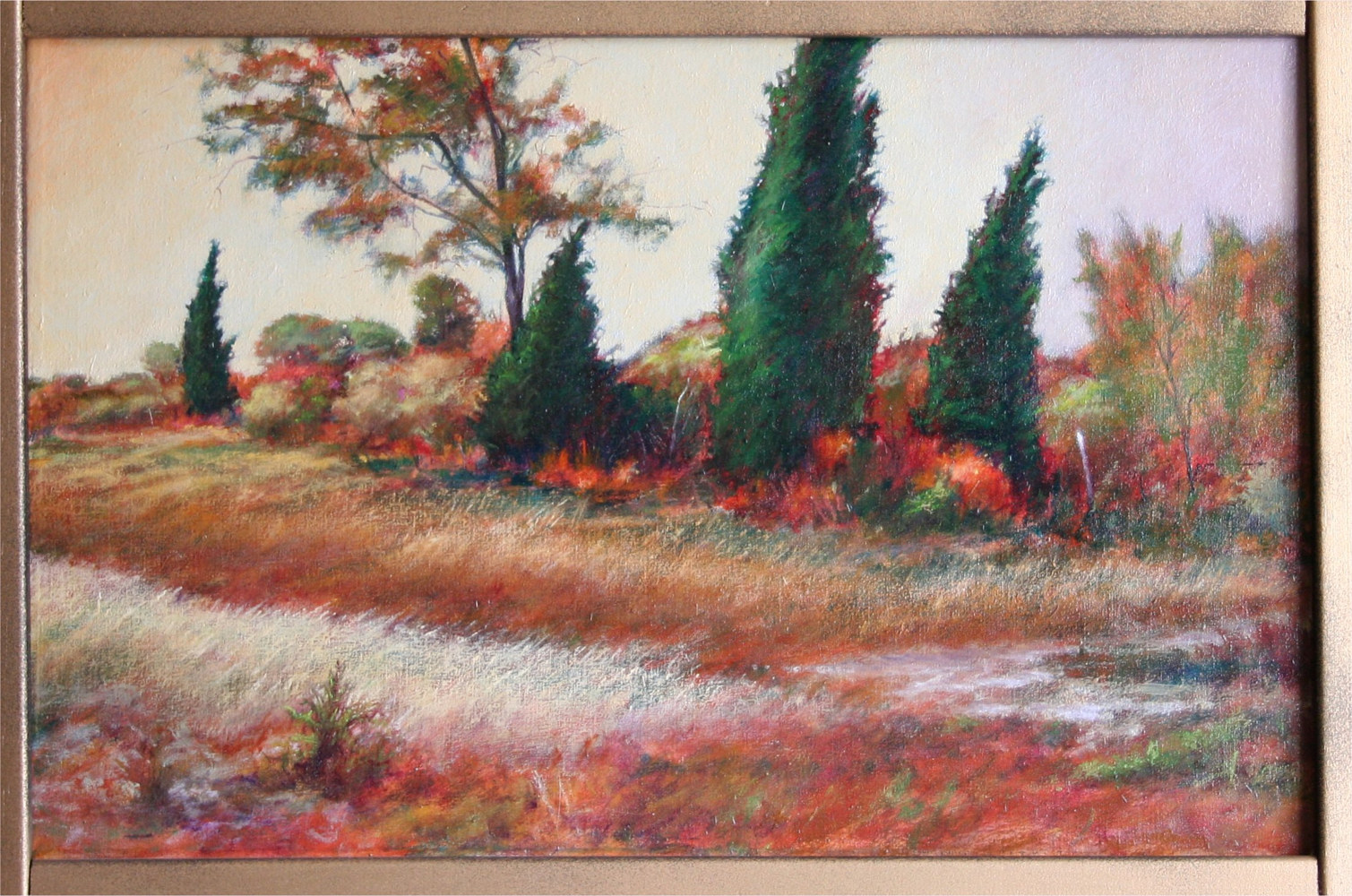 Last of the Windbreak Rockdale Texas 14x22 by Gary Nowlin