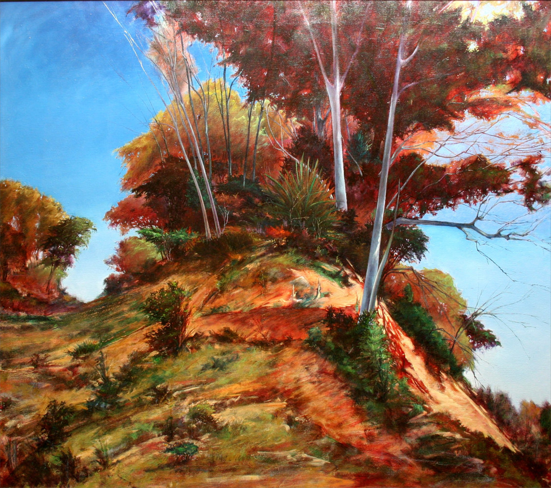 Banks of the San Gabriel Georgetown Texas 40x45 by Gary Nowlin