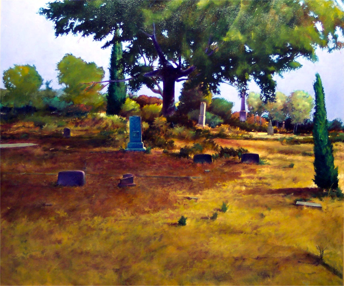 Citizens of the Republic Rock Bluff Texas36x40 by Gary Nowlin