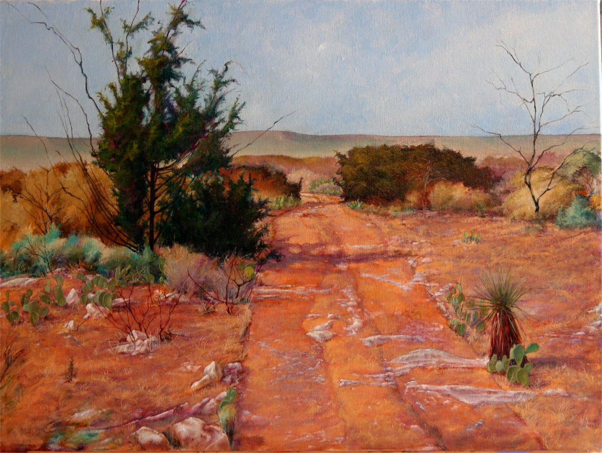 Old Trail  Hughes Ranch  Brady Texas 18x24 by Gary Nowlin