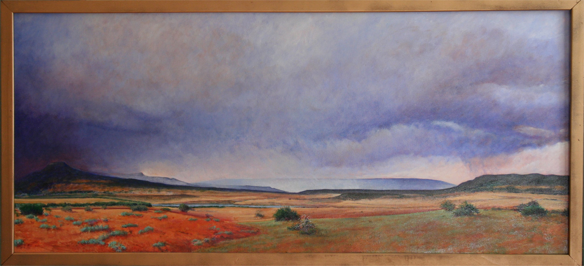 On Leaving Ghost Ranch New Mexico 24x54 by Gary Nowlin
