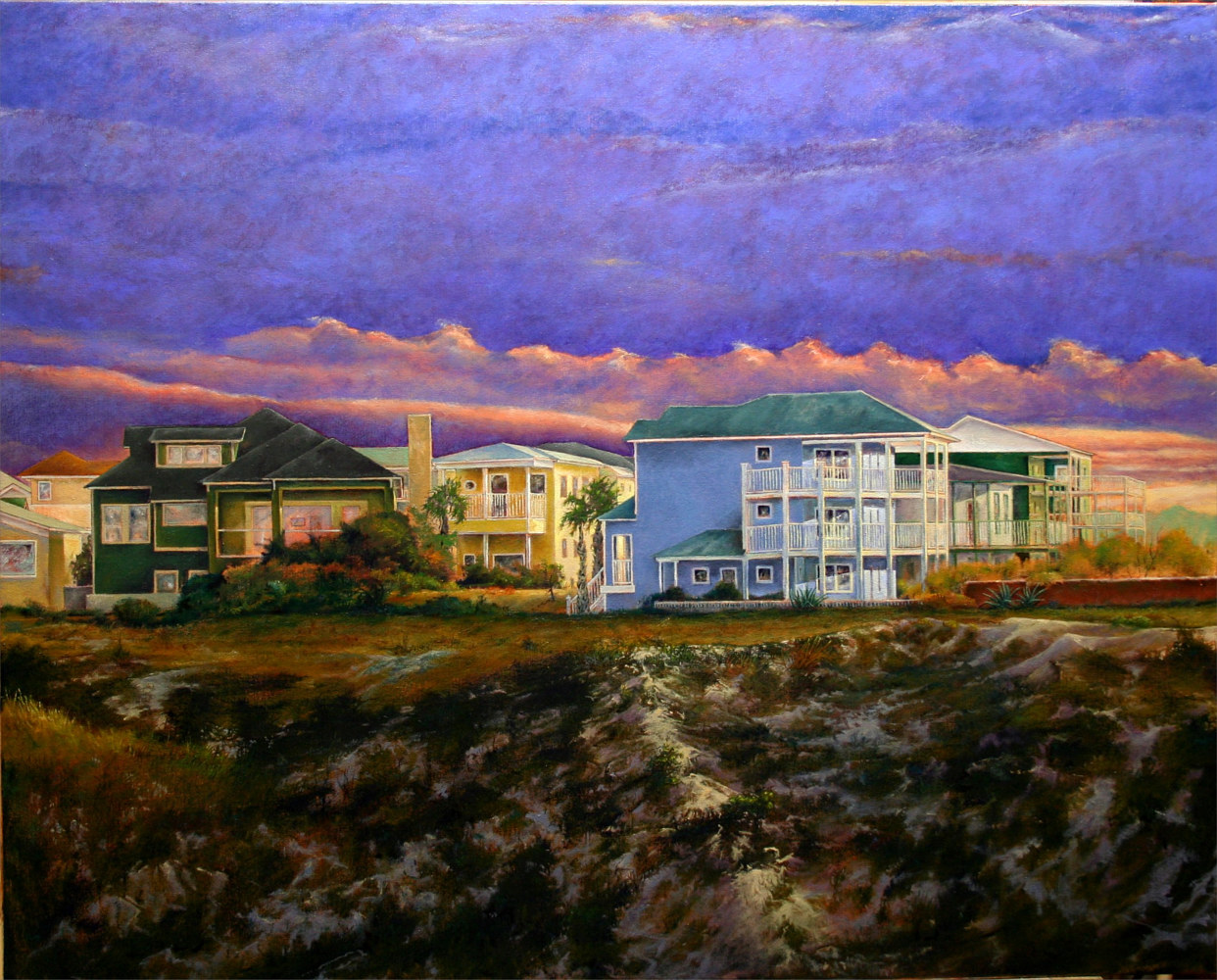 September Morning Port Aransas Texas 32x40 by Gary Nowlin
