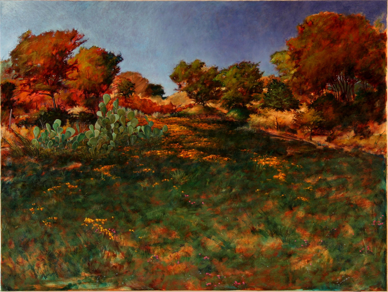 Summer Greetings  Hughes Ranch Brady  Texas 30x40 by Gary Nowlin