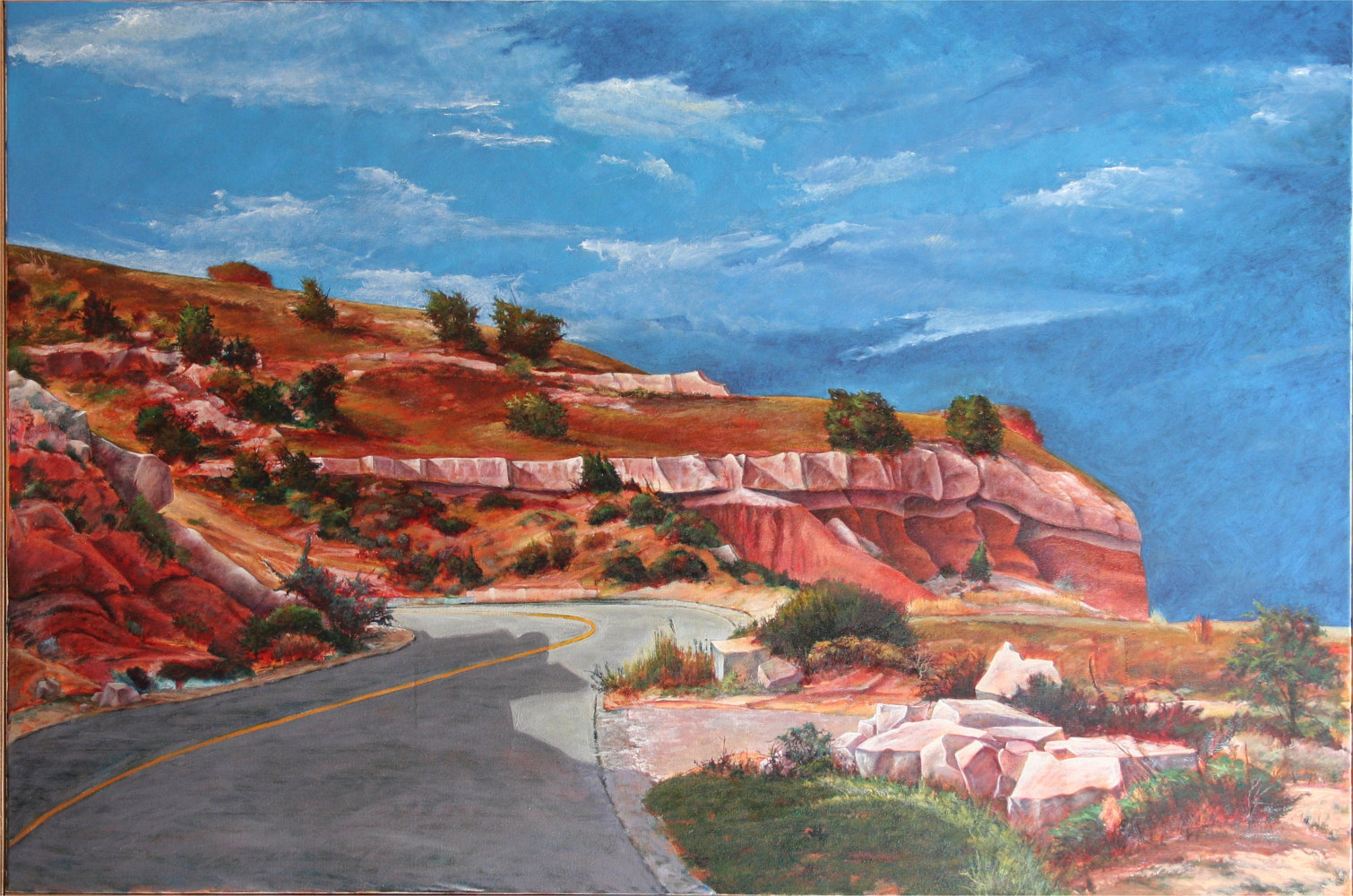 Up to Out Palo Duro Canyon Texas 36x54 by Gary Nowlin